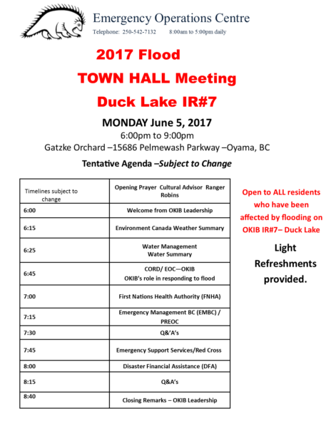 Duck Lake Ir7 Townhall Meeting June 5 2017