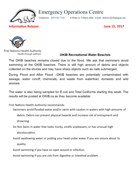 Eoc Information Release Fnha Update June 15 17
