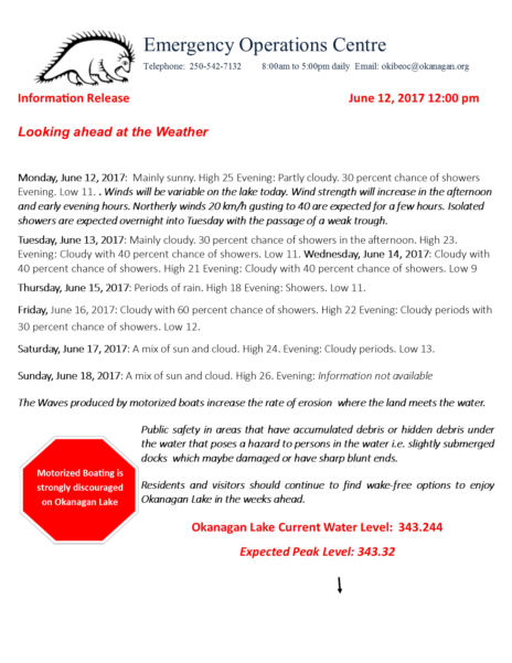 Eoc Information Release Looking Ahead At The Weather June 12 2017 120 Edited