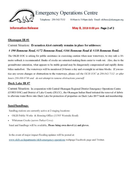 Information Release May 8 2018 Evacuation Alert Falcon Avenue Parker Cove Page 3