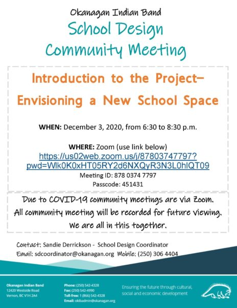 Notice School Design Community Meeting
