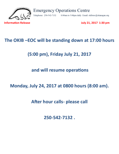 Okib Eoc Information Release July 21 2017