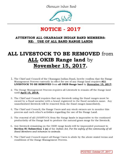 Range Management Posting 2017
