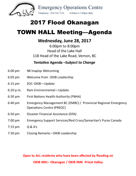 Town Hall Meeting Ir1 And Ir6 Agenda June 28 2017 600 Pm Revised