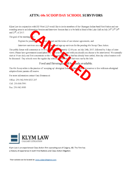 Cancelled Klym Law